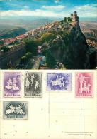 San Marino Postcard 1963 Stamps - San Marino
