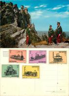 San Marino Postcard 1964 Stamps - San Marino