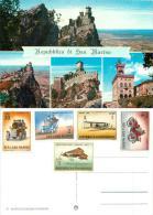 San Marino Postcard 1960s Stamps - San Marino