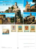 San Marino Postcard 1968 Stamps - San Marino
