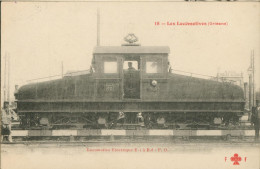 Les Locomotives  (Orléans Loco électriques E1. à E8. P.O. - Trains
