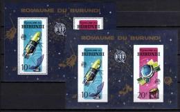 Belgisch Congo Belge Burundi N° BL7-7A Min. Sheets MNH Space - Aerospace - Ruimtevaart Cat. 6.00Eu. - 1962-69: Neufs