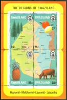 1977 Swaziland Mappe Cartes Maps Block MNH** -ZZ20 - Géographie