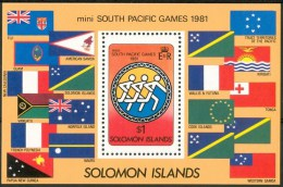 1981 Solomon Island MINI SOUTH PACIFIC GAMES Block MNH**-ZZ21 - Isole Salomone (1978-...)
