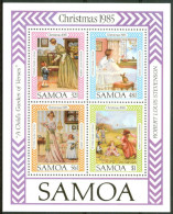 1985 Samoa Natale Christmas Noel Block MNH** -ZZ22 - Samoa