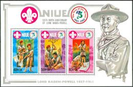 1983 Niue Scout Scoutisme Scouting Block MNH**-ZZ24 - Niue