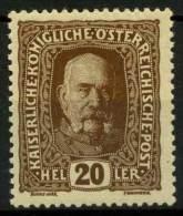 #14-04-01245 - Austria - 1916 - SG 253 - MH - QUALITY:100% - Francis Josep I