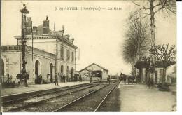 CPA SAINT-ASTIER La Gare 10159 - France