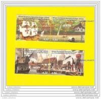 4 Stamps PORTUGAL THAILAND DIPLOMATIC RELATIONS  Ship Nau Batea Bateaux & Elephant Elephants - Gemeinschaftsausgaben