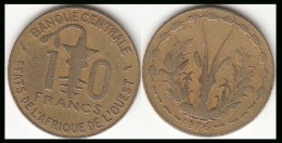 REP.CENTRO AFRICANA 10 CAF Francs 1976 KM#1a - Used - Repubblica Centroafricana