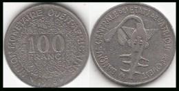 REP.CENTRO AFRICANA 100 CAF Francs 1975 KM#4 - Used - Repubblica Centroafricana