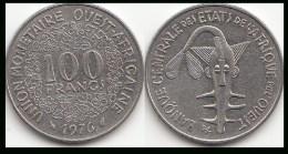 REP.CENTRO AFRICANA 100 CAF Francs 1976 KM#4 - Used - Repubblica Centroafricana