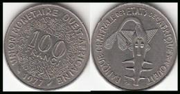 REP.CENTRO AFRICANA 100 CAF Francs 1977 KM#4 - Used - Repubblica Centroafricana