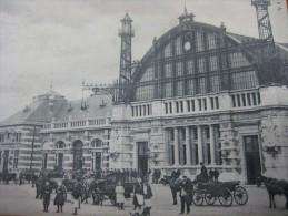 Malines - Mechelen : La Gare - Station,  Ed. H. N. à A., Geen Postkaartachterkant, Zie Scans, Geanimeerd - Mechelen