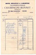 LETTRES DE CHANGE, Etablissements CH. COQUILLARD, B.P.F 71.589, FROGES Le 8 Mars 1952, (fr : 1.40) - Lettres De Change