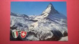 Valle D' Aosta - Il M. Cervino M. 4484 Visto Dal Versante Svizzero Con Il Furggen - Altre Città