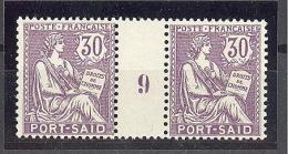 """Port Saïd:  Yvert A 30*;type """"Mouchon"""";  Millésime 9; Voir Le Scan - Neufs"""