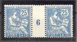 """Port Saïd:  Yvert A 29*;type """"Mouchon"""";  Millésime 6; Voir Le Scan - Neufs"""