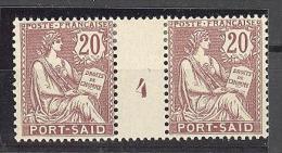 """Port Saïd:  Yvert A 28*;type """"Mouchon"""";  Millésime 4; Voir Le Scan - Neufs"""