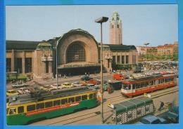 HELSINKI RAILWAY STATION, TRAMWAYS, CARS, AUTO - Tram