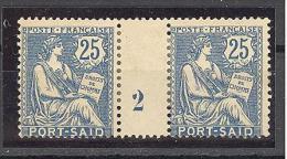 """Port Saïd:  Yvert A 29*;type """"Mouchon"""";  Millésime 2; Voir Le Scan - Neufs"""