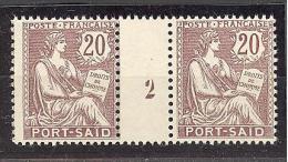 """Port Saïd:  Yvert A 28**;type """"Mouchon"""";  Millésime 2; Voir Le Scan - Neufs"""