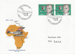 Switzerland 1977 Zürich Commemorative Flight To Cairo Egypt Airplane Cover - Luchtpost
