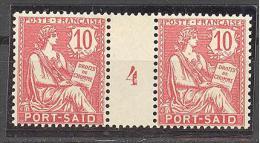"""Port Saïd:  Yvert A 26(*);type """"Mouchon"""";  Millésime 4; Voir Le Scan - Neufs"""