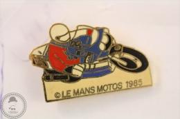 Le Mans Motos 1985 Motorcycle/ Motorbike Racing - Pin Badge #PLS - Motos