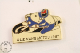 Le Mans Motos 1987 Motorcycle/ Motorbike Racing - Pin Badge #PLS - Motos