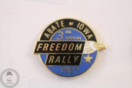 Abate Of Iowa 3rd Annual Freedom Rally 1987 - Pin Badge #PLS - Rallye