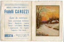 CALENDARIO PUBBLICITà NEGOZI E MAGAZZINI TESSUTI FRATELLI CAROZZI BRESCIA ANNO 1939 - Klein Formaat: 1921-40