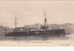 """CPA  BATEAUX / MARINE DE GUERRE / CUIRASSE  D'ESCADRE A TOURELLES / """" LE CARNOT """"  / BOUGAULT 534 - Krieg"""