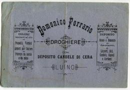 PUBBLICITà FATTURA DOMENICO FERRARIO DROGHIERE LUINO VARESEANNO FINE 1800 - Fatture & Documenti Commerciali
