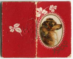 CALENDARIETTO CARTOLERIA E ARTICOLI PER LA PITTURA ZOLFANELLI & NERI FIRENZE ANNO 1902 CANE - Calendari