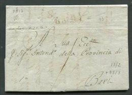 1817  RARA PREFILATELICA DA  CONVERSANO   X  BARI     INTERESSANTE DOCUMENTO STORICO - 1. ...-1850 Prefilatelia