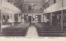 New Jersey Paterson Interior View Star Of Hope Mission Albertype - Paterson