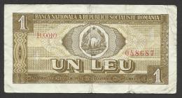 Romania,  1 Leu, 1966. - Romania