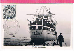 ( CM ) Carte Maximum AUSTRALIE Y&T 214  Obl  1954  Maximum Card ) - Maximumkarten (MC)