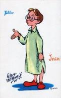 WALT-DISNEY - PUBLICITE POUR LES CHOCOLATS TOBLER - JEAN - TRES BELLE CARTE COULEUR -  TOP !!! - Chocolat