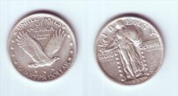 U.S.A. 1/4 Dollar 1923 - 1916-1930: Standing Liberty (Libertà In Piedi)