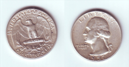 U.S.A. 1/4 Dollar 1957 D - Emissioni Federali