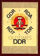 GERMANY - DEUTSCHE DEMOKRATISCHE REPUBLIK - DDR - 1960 OLD STICKER - Stickers