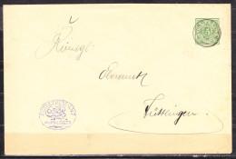 DU 5 Ziffer, Schultheis-Amt Wurmlingen, Gefluegelter Wurm Im Siegel, Nach Tuttlingen, AK-Stempel 1902 (54629) - Wurttemberg