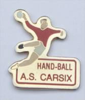Pin's A.S CARSIX (27)  HANDBALL - Le Handballeur -  D686 - Handball