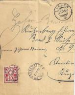 Brieffragment  Grosshöchstetten - Linden           1887 - Storia Postale
