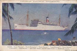 Bâteaux -  Paquebots - Canadian Steamships - Vapeur - Postal Mark British Guiana 1931 Bermuda - Passagiersschepen