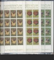 Liechtenstein  ** 747-749 Alpwirtschaft    Kleinbogen Ungefaltet - Ungebraucht