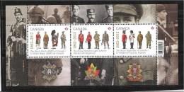 CANADA,2012, #2577, THE REGIMENTS   MNH SS - Blocs-feuillets