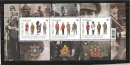 CANADA,2012, #2577, THE REGIMENTS   MNH SS - Blocks & Sheetlets